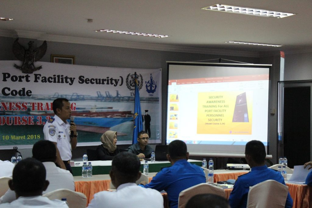 PT. Putra Tidar Perkasa ikutkan training port security guard