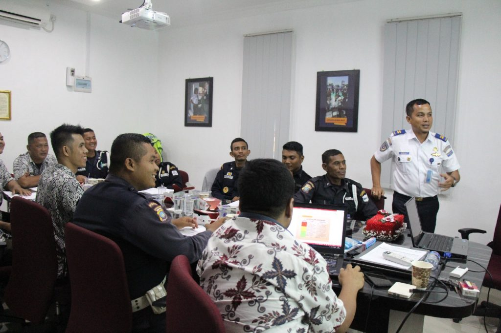 pelatihan Port Security Guard sebagai penyelenggara PTP Training Center
