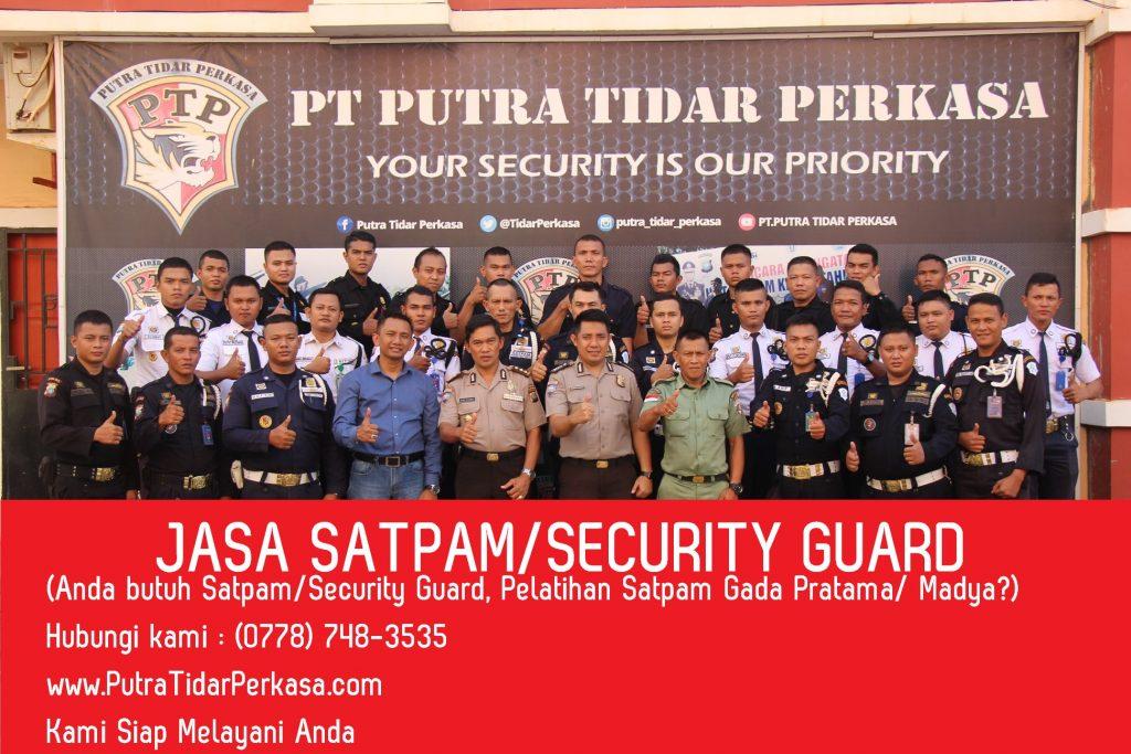 Jasa Pelatihan Satpam Security Guard di Batam Bekasi Karawang Surabaya