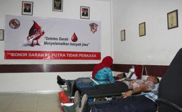PT. Putra Tidar Perkasa melaksanakan Donor Darah