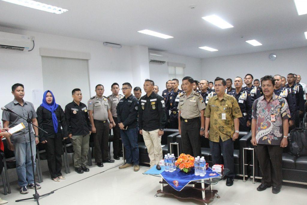 Pembukaan pelatihan Satpam Disnaker Kota Batam - PTP Training Center