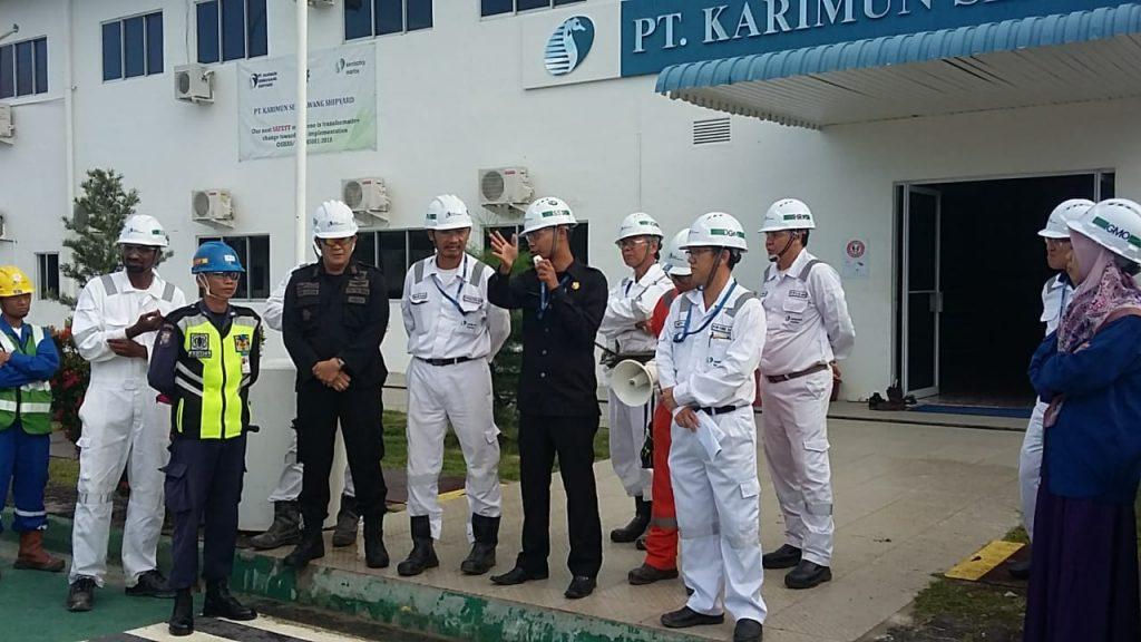 Satpam PTP unit PT KSS Karimun berhasil menangkap 3 pencuri besi