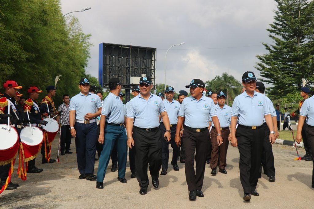 Drumband Satpam Pertama di Indonesia tampil dalam acara Hari Anti Narkotika Internasional di BNNP Kepri - PT. Putra Tidar Perkasa