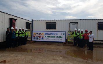 Foto bersama dengan manajemen PT. Timas Suplindo - Security Guard in Batam