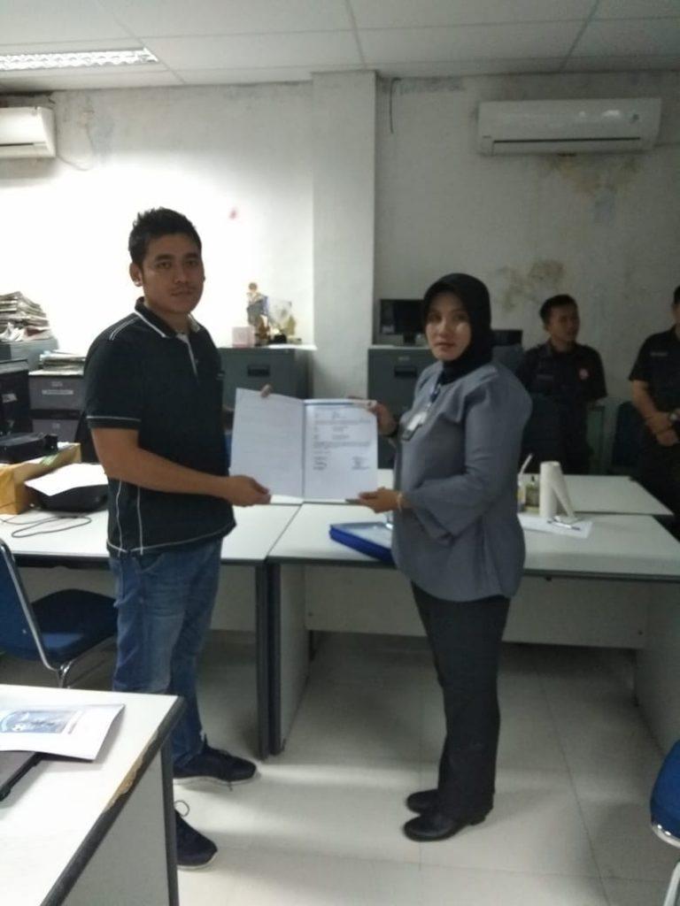 Serah terima pengamanan oleh perwakilan manajemen PTP di Bangka Belitung
