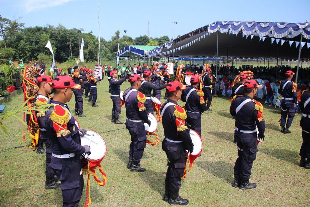 Drumband Satpam Canka Putra Perkasa meriahkan HUT ATB Batam ke 23
