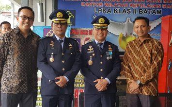 Foto bersama saat acara upacara Pemberian Remisi Umum
