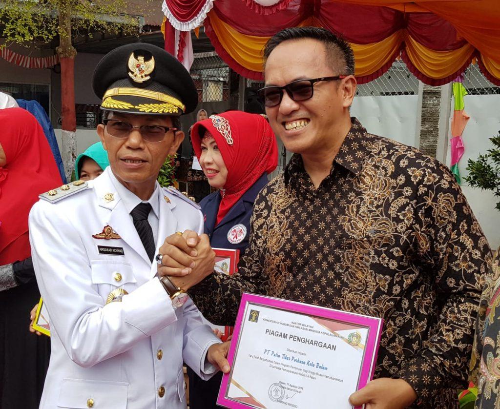 PTP menerima penghargaan dari Kanwil Kemenkumham Kepri