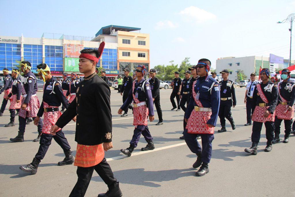 Satpam PTP ikuti Pawai Pembangunan dan Kebudayaan