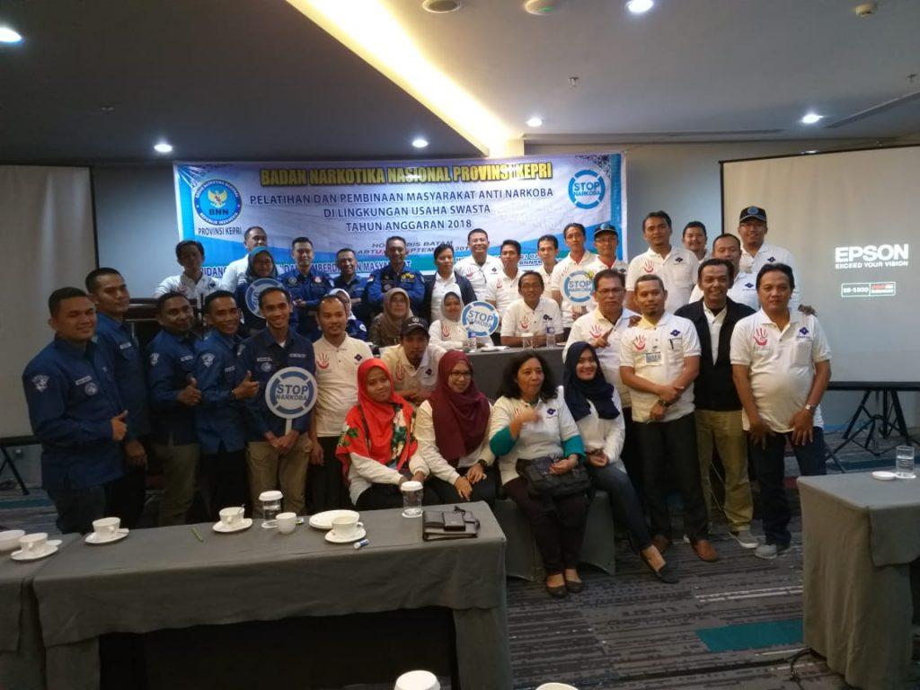 PT. Putra Tidar Perkasa mengikutkan Tim Spartan PTP Bimtek bersama BNNP Kepri