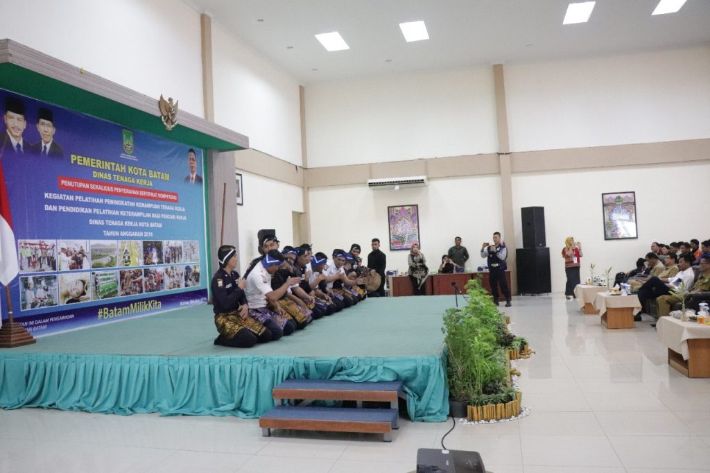 Tari Saman Satpam PTP tampil didepan Walikota Batam