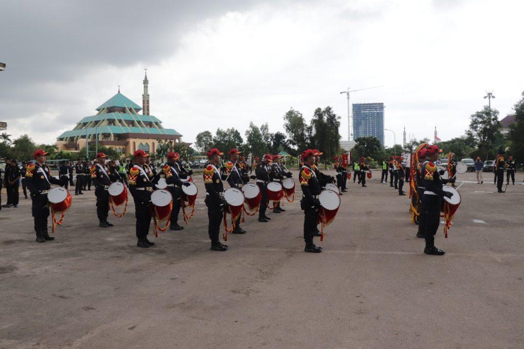 Drumband Meriahkan Upacara bulanan PTP dan pelantikan relawan anti narkoba
