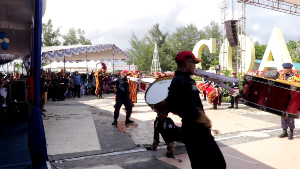 Atraksi Drumband Satpam PT Putra Tidar Perkasa
