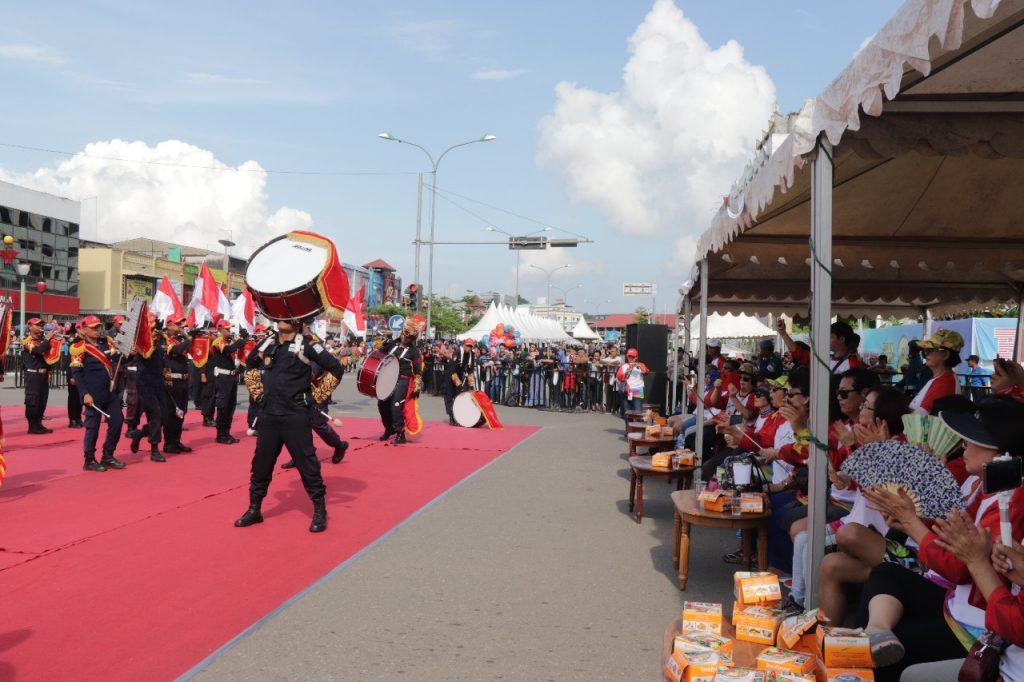 Batam International Culture Carnival 2018 - Drumband Satpam Canka Perkasa buka parade