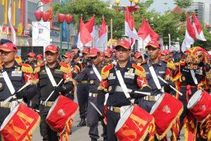Drumband Satpam Getarkan Batam Kota Bandar Madani dalam Event Batam International Culture Carnival 2018