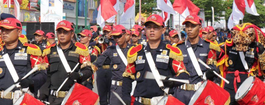 Batam International Culture Carnival 2018 Tampilkan Drumband Satpam PTP