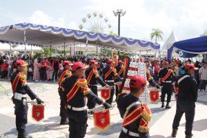 Drumband Satpam PTP Hebohkan Anniversary PT. Sumitomo Batam ke 28