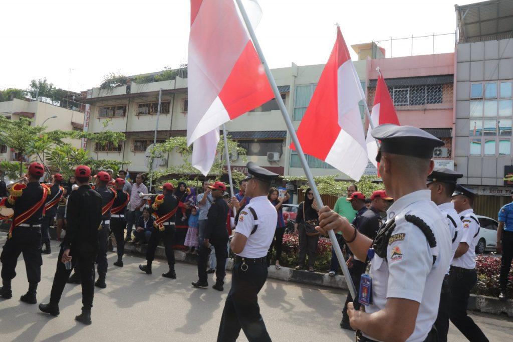 Satpam PT Putra Tidar Perkasa ikuti Batam International Culture Carnival 2018
