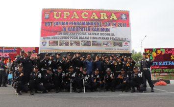 Upacara HUT Satpam di Tanjung Balai Karimun - Satpam PTP