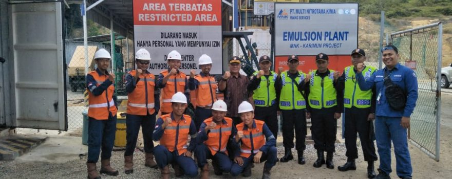 PT. Multi Nitrotama Kimia Karimun percayakan Pengamanan perusahaan kepada Putra Tidar Perkasa
