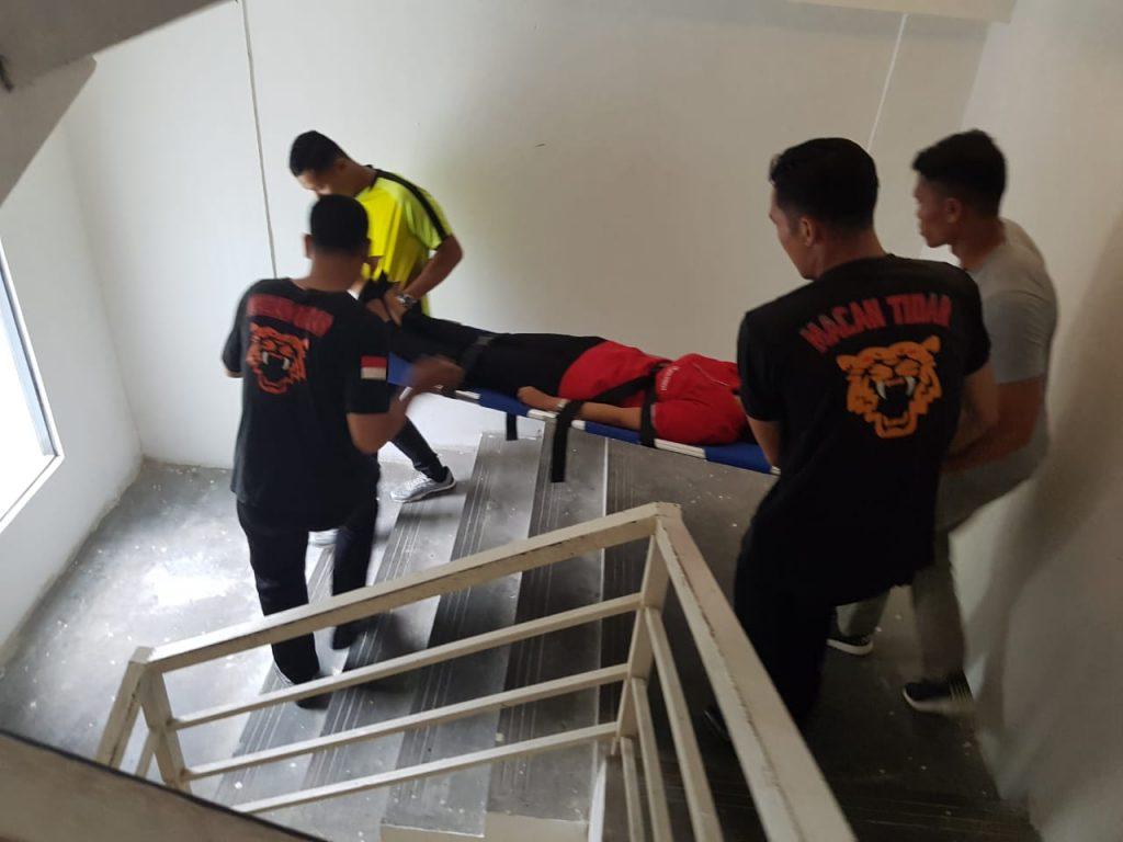 Training Evakuasi oleh Satpam PTP