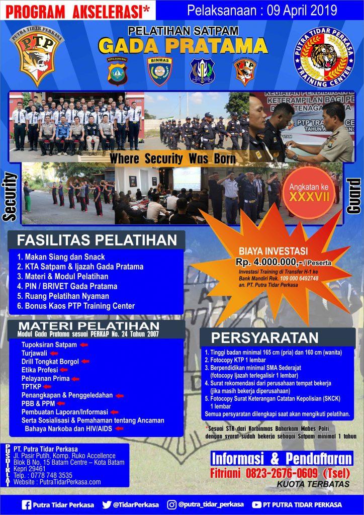 Brosur Pelatihan Satpam Gada Pratama - Putra Tidar Perkasa - 09 April 2019
