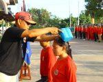 Diktuk Satpam PTP - Pendidikan dan Pembentukan Calon Satpam - PTP Training Center - Diktuk angkatan 43 - Siram bunga