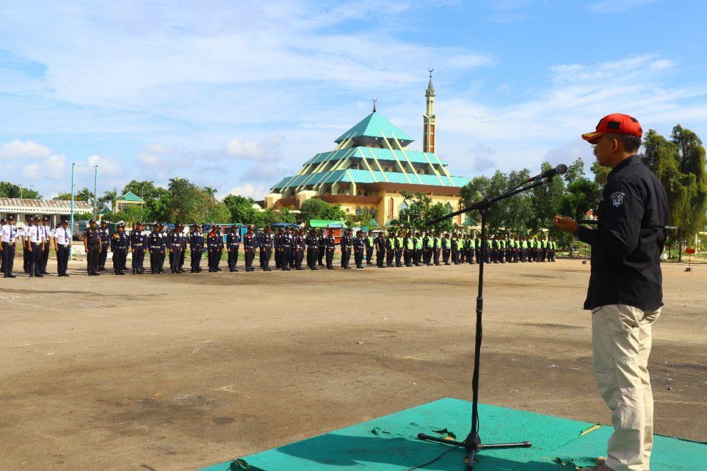 Jasa Keamanan Perusahaan Batam - Upacara Bulanan di Hadiri ratusan Satpam - PT. Putra Tidar Perkasa