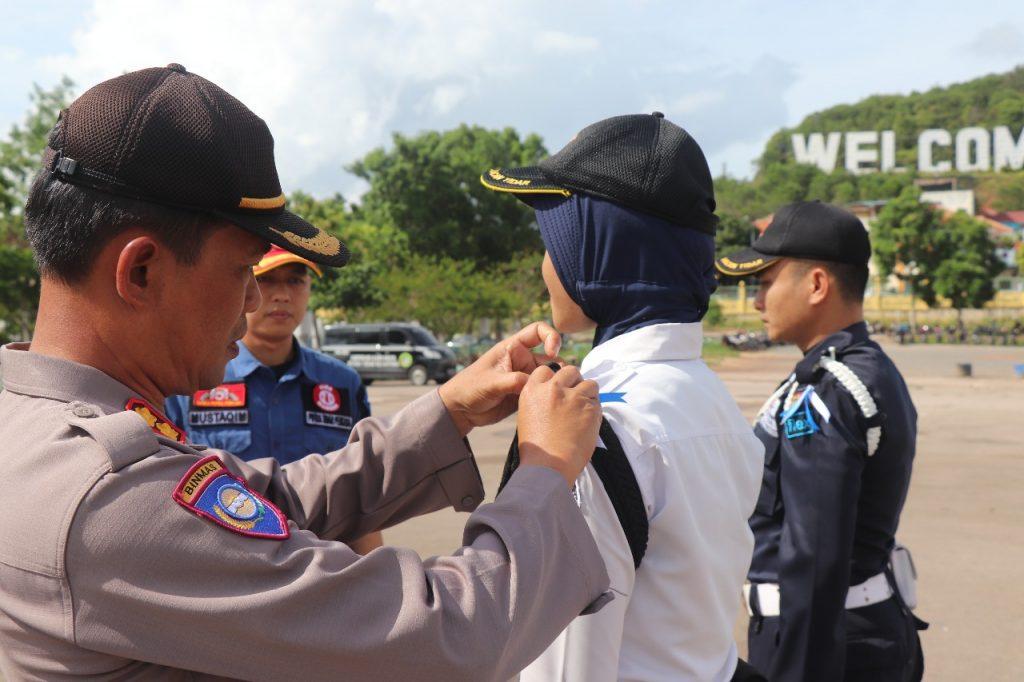 Apel OPS Ketupat Tidar 2019 - Jasa Pengamanan PT. Putra Tidar Perkasa - Penyematan tanda Pita