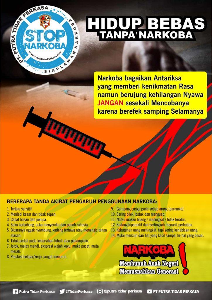 Brosur Anti Narkoba - PT. Putra Tidar Perkasa