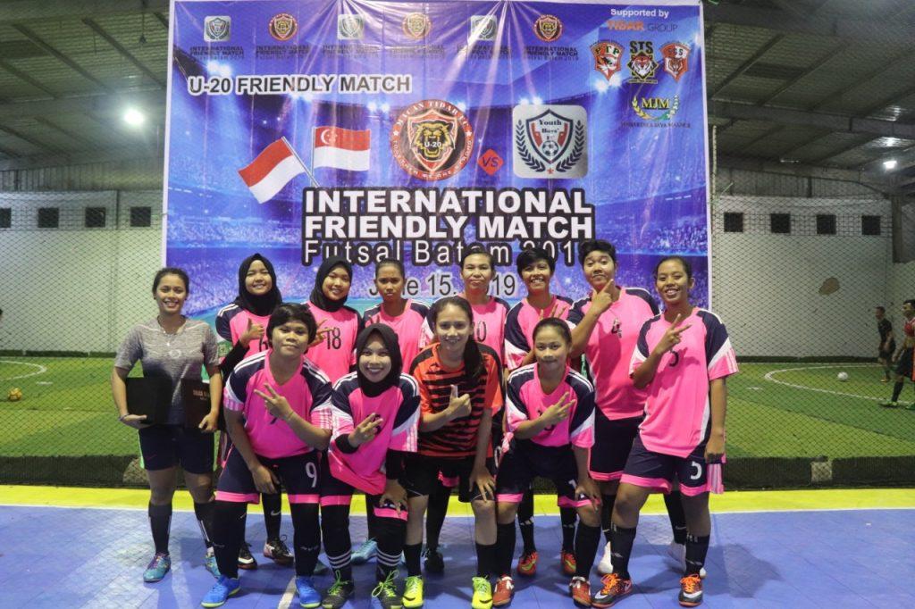 Tanding persahabatan internasional futsal Batam 2019 - Macan Tidar Angel - Putra Tidar Perkasa