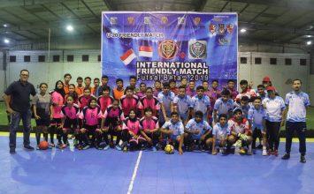 Tanding persahabatan internasional futsal Batam 2019 - Macan Tidar FC - Putra Tidar Perkasa