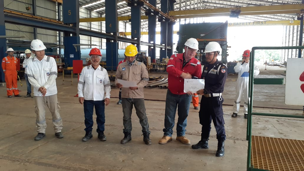 Peduli dengan Keselamatan Kerja, Satpam PTP dapat Penghargaan dari Klien Bintan
