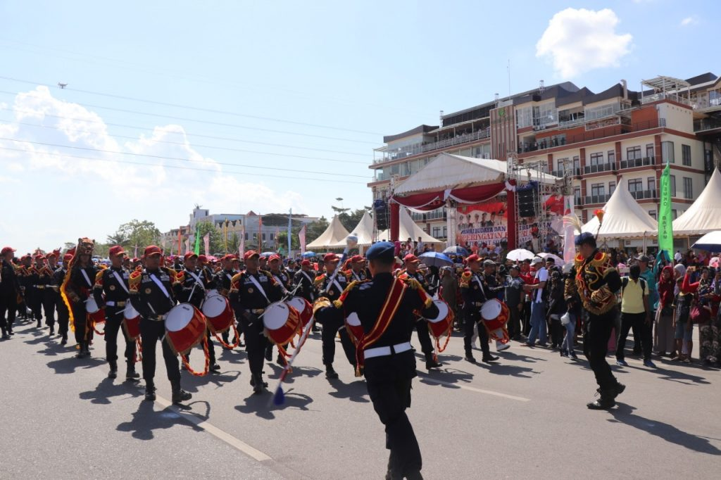 Drumband-Satpam-Canka-Putra-Perkasa-event-Pawai-Budaya-dan-Pawai-Pembangunan-2019