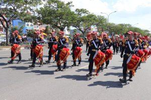 Drumband Satpam Canka Putra Perkasa Meriahkan Pawai Budaya dan Pembangunan Kota Batam 2019