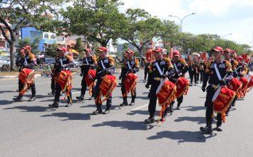 Drumband Satpam Canka Putra Perkasa - event Pawai Budaya dan Pawai Pembangunan 2019 - PT. Putra Tidar Perkasa