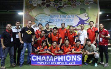 Macan Tidar FC - Juarai Hope For Life Open II 2019 - PT. Putra Tidar Perkasa