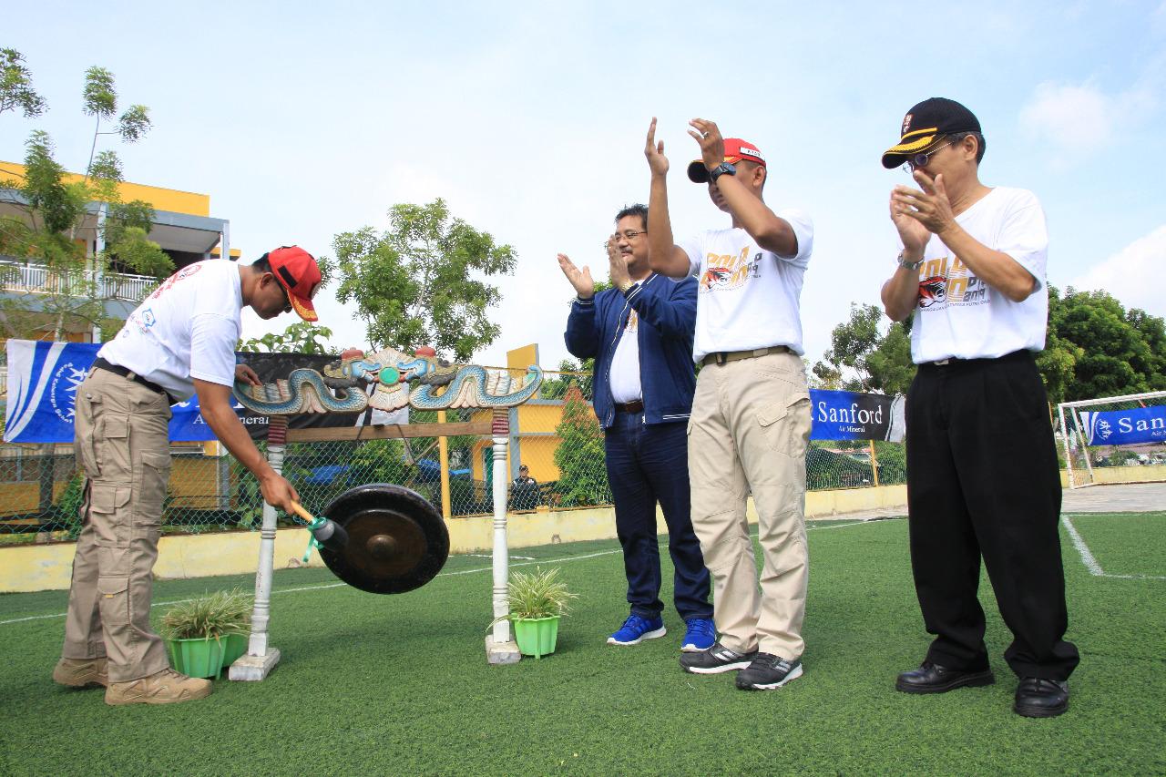 Serukan Kekompakan Satpam PTP dalam acara Pekan Olahraga dan Kreativitas Putra Tidar 2019