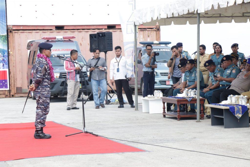 Drumband-Satpam-Canka-Putra-Perkasa-sambut-KRI-Bima-Suci-945-di-Batam-Penyambutan-di-Pelabuhan-Batu-Ampar-TNI