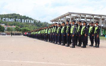 Jasa Satpam di Kota Batam - Upacara Bulanan - PT Putra Tidar Perkasa - Jasa Keamanan