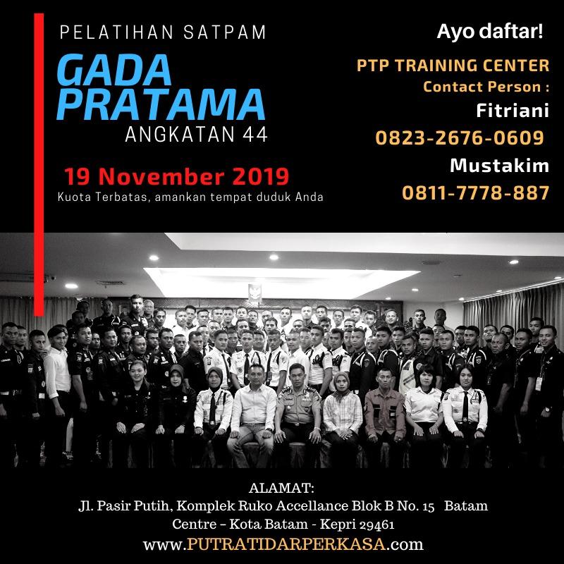 Pelatihan Satpam Gada Pratama - PTP Training Center - angkatan 44