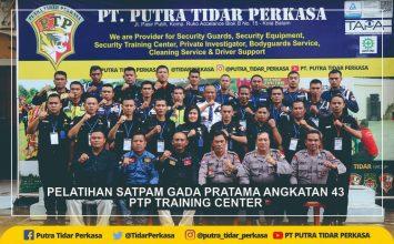 Pelatihan Satpam Gada Pratama angkatan 43 - PT Putra Tidar Perkasa