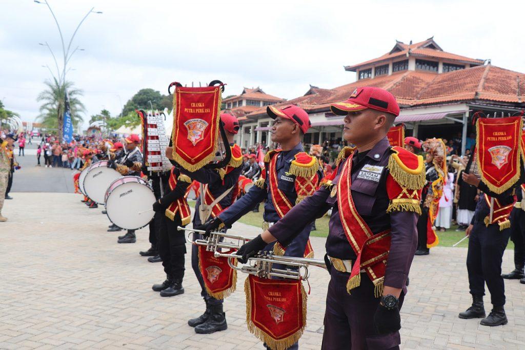 Batam International Culture Carnival 2019 - Drumband Satpam Canka Putra Perkasa di Nuvasa Bay - PT. Putra Tidar Perkasa