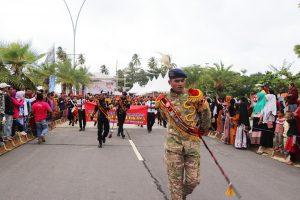 Satpam Bangga Ikuti Parade Event Batam International Culture Carnival 2019 yang termasuk ke dalam 100 Calender of Events 2019 Kemenpar