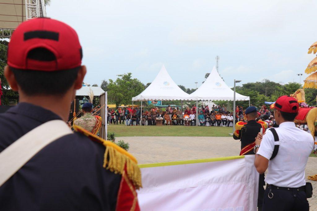 Batam International Culture Carnival 2019 - mengawali acara dengan Drumband Satpam  - PT. Putra Tidar Perkasa