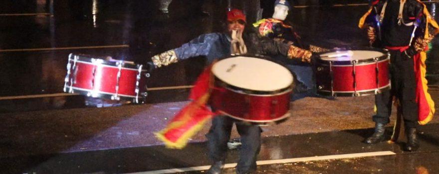 Drumband Satpam Canka Putra Perkasa dalam acara Hari Jadi Kota Batam ke 190 -