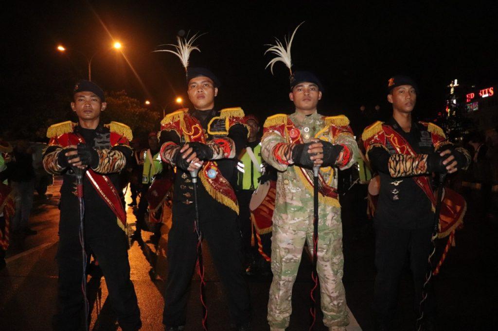 Drumband Satpam Canka Putra Perkasa dalam acara Hari Jadi Kota Batam ke 190 - Jasa Satpam di Batam