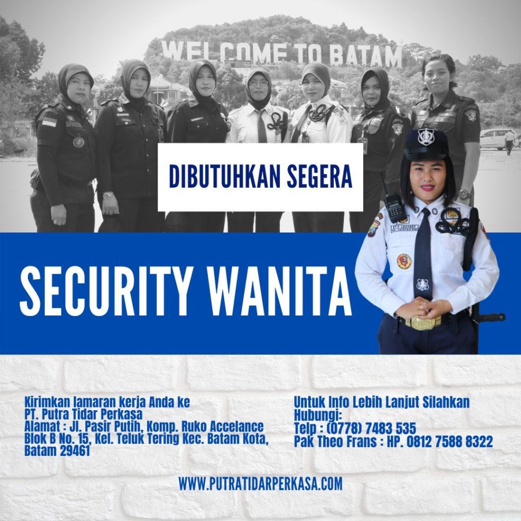 Loker Satpam Security Wanita di Batam