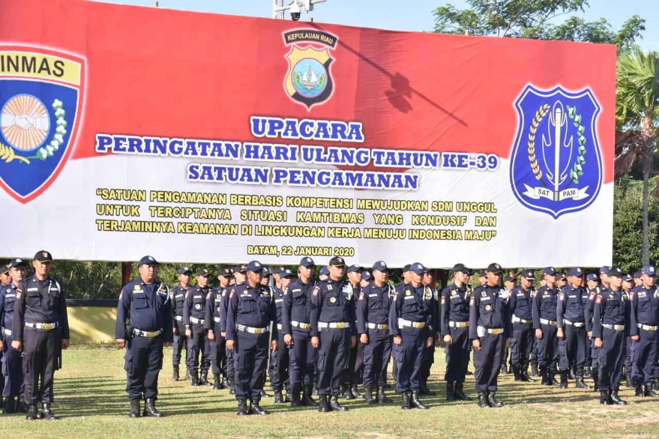 Ragam Atraksi Satpam PTP Meriahkan Upacara Peringatan HUT Satpam ke 39 di Mapolda Kepri