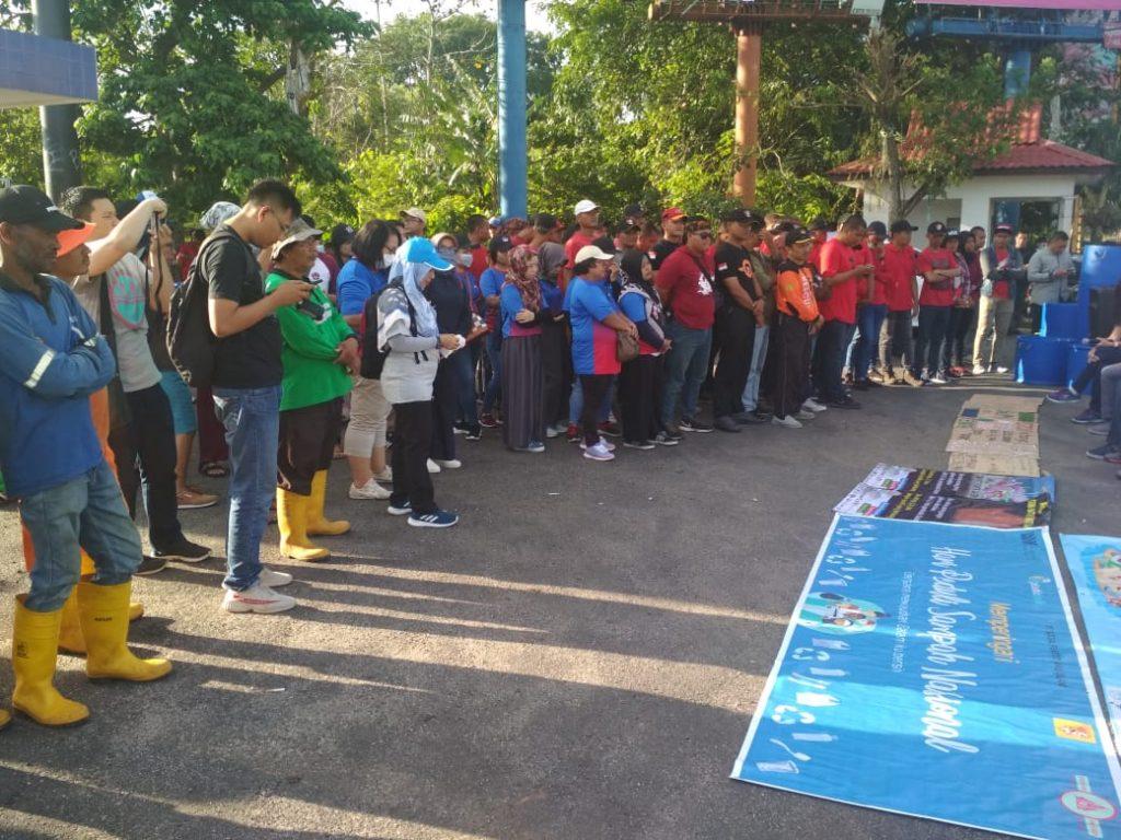 Bersih-bersih Kota Batam - Satpam PTP